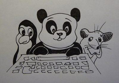 Panda, possum and penguin
