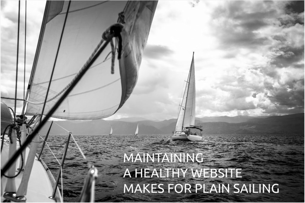 Contact us - maintaining a healthy website makes for plain sailing