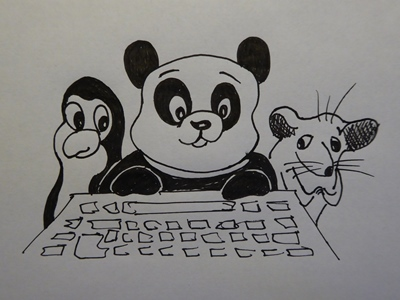 Panda, possum and penguin