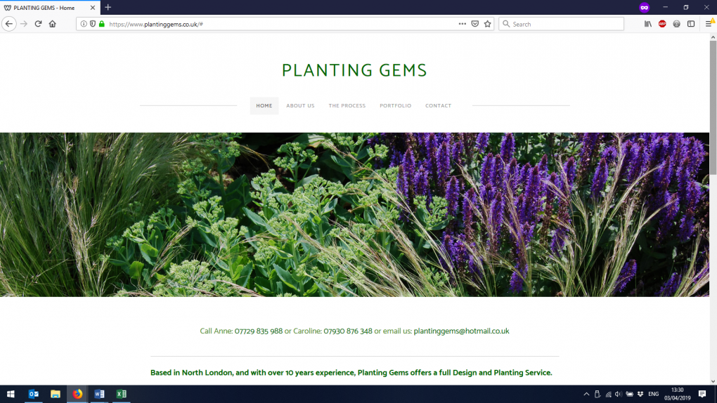 A Weebly website transformed for a soft landscaping company
