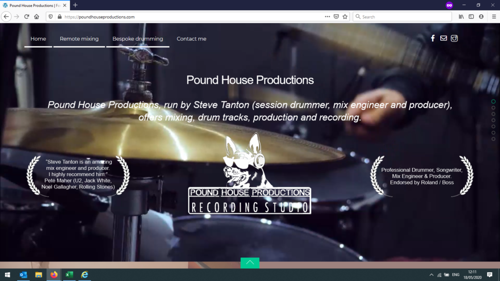 Featured websites #1 - Pound House Productions